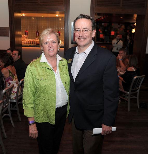 Jan Pruitt, CEO of North Texas Food Bank, with Brian Burton, CEO and President of Three Square