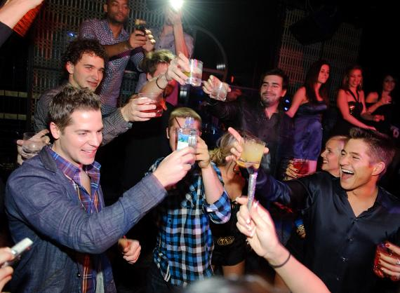 Jason Kennedy celebrates his birthday at LAVO