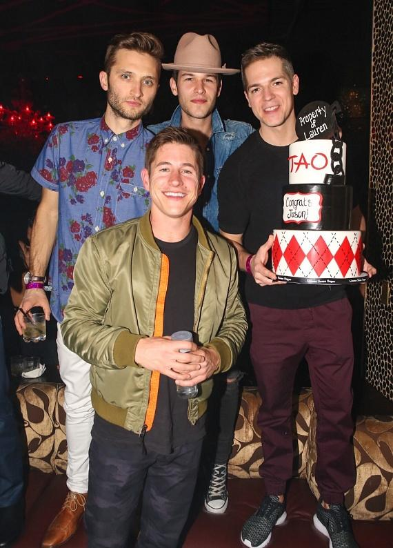 Jason Kennedy and friends at TAO Nightclub in Las Vegas