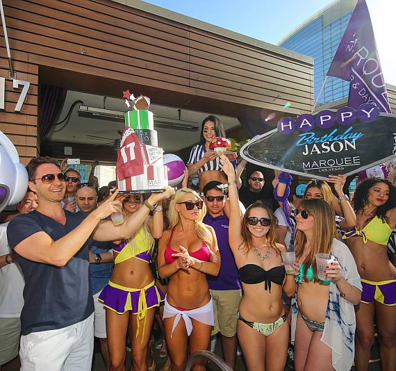 Jason Strauss' birthday at Marquee Dayclub