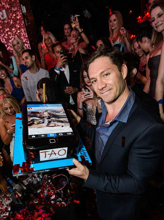 Jason Strauss birthday celebration at TAO