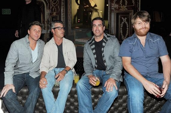 Jay Davis, Cort McCown and Rob Riggle hang out at their VIP table inside Gallery Nightclub