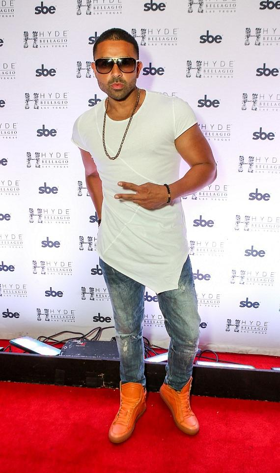 Jay Sean on red carpet at Hyde Bellagio