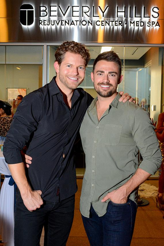 Jaymes Vaughn and Jonathan Bennet at Beverly Hills Rejuvenation Center Downtown Summerlin's Grand Opening Event