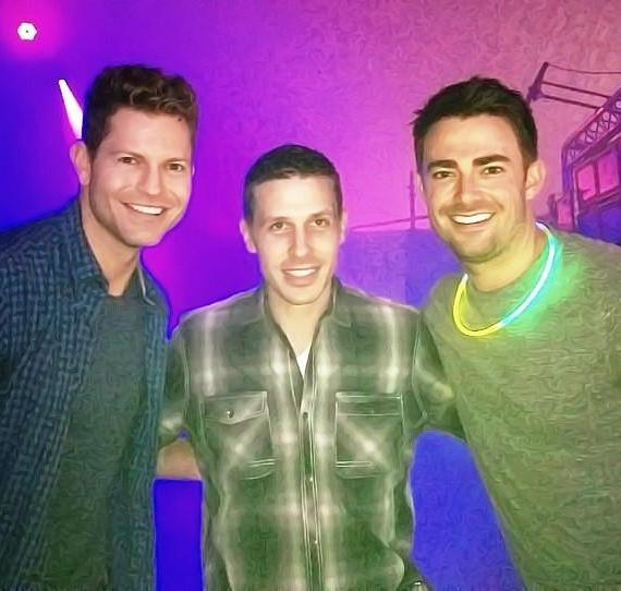 Jaymes Vaughan, Fright Dome owner Jason Egan and actor Jonathan Bennett