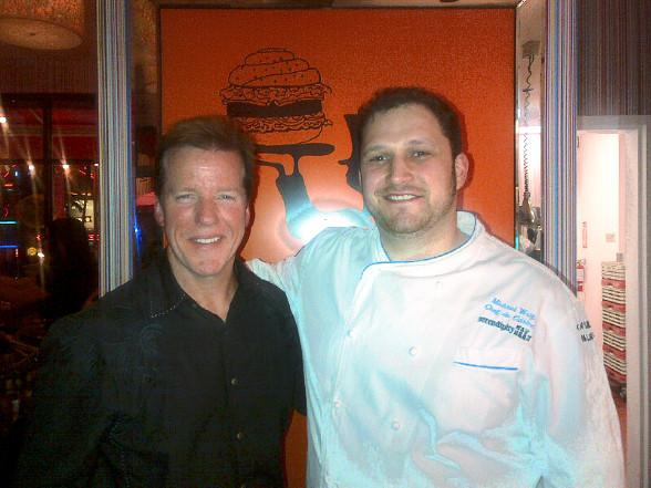 Comedian Jeff Dunham with Serendipity 3 chef Michael Wolf