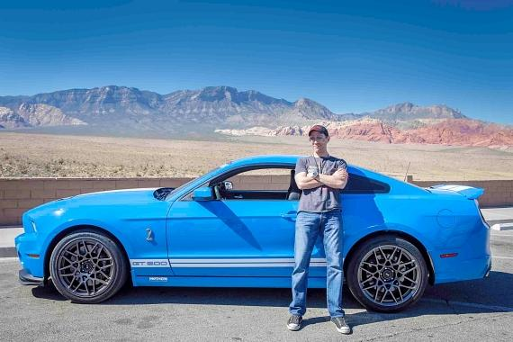 Jeff Leibow with a Shelby GT500