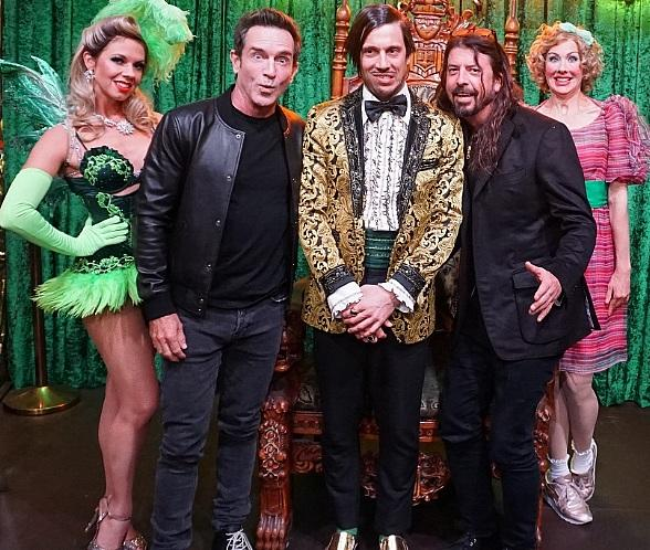 """""""Survivor"""" Host Jeff Probst and Foo Fighters Frontman Dave Grohl Attend ABSINTHE at Caesars Palace Las Vegas"""