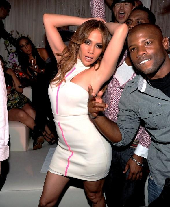 Jennifer Lopez dancing at PURE Nightclub