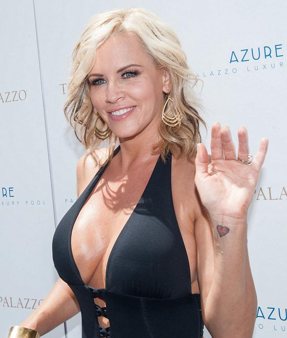 Jenny McCarthy Basks in the Sun at Azure Luxury Pool at The Palazzo Las Vegas