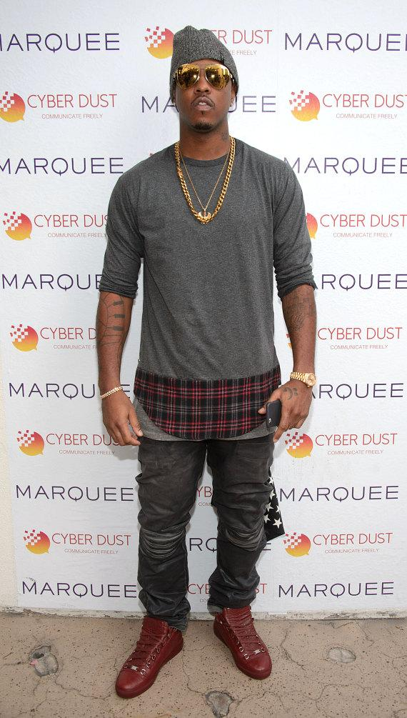 Jeremih arrives at Marquee Dayclub Dome in Las Vegas