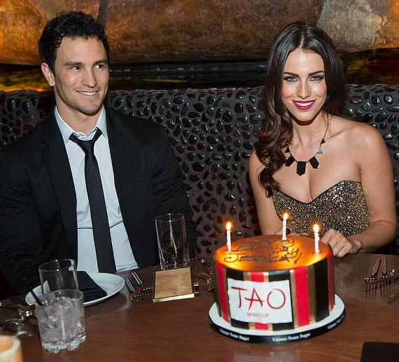 Jeremy Bloom and Jessica Lowndes at TAO