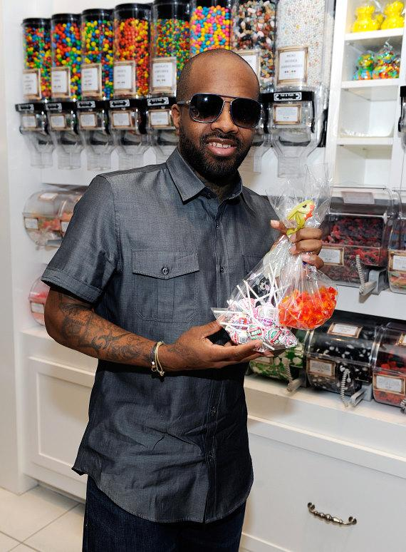 Jermaine Dupri shops for sweet treats at Sugar Factory inside Paris Las Vegas