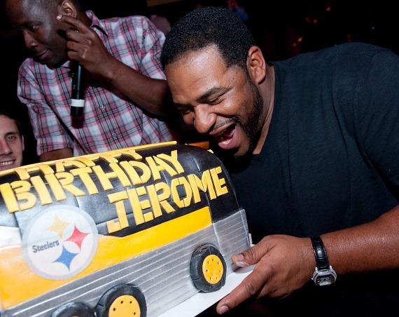 Jerome Bettis with cake at TAO