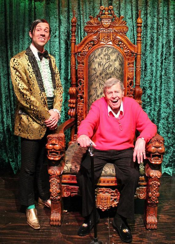 The Gazillionaire with Jerry Lewis at Absinthe in Las Vegas