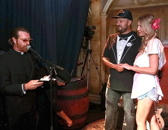 Jesse Hughes officiates Branden & Lisa Powers' Las Vegas Wedding