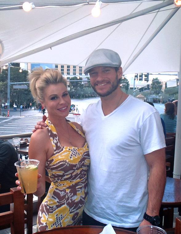 Jesse Kovacs and Summer Albertsen enjoying cocktails at Cabo Wabo Cantina