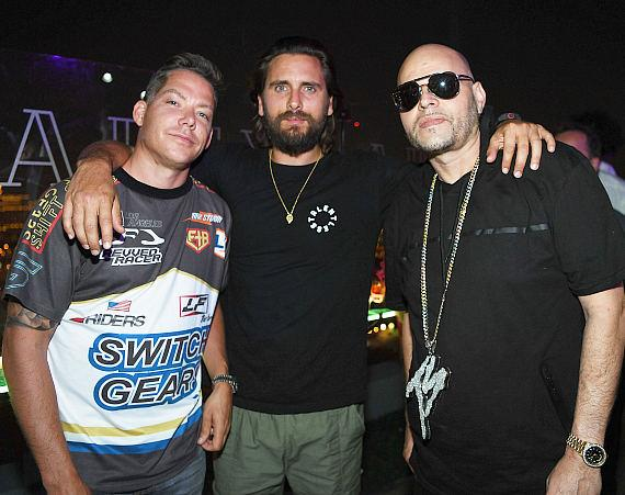 Jesse Waits, Scott Disick, and Raul Conde at APEX Social Club at PALMS Casino Resort