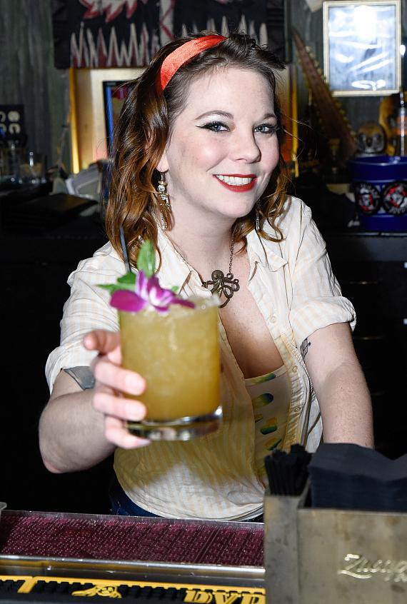 """Jessica Lee Westergom from The Black Sheep served the """"Zombie"""""""