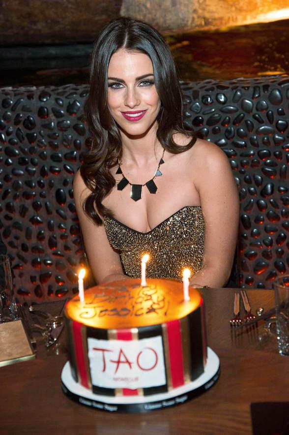 Jessica Lowndes celebrates her birthday at TAO