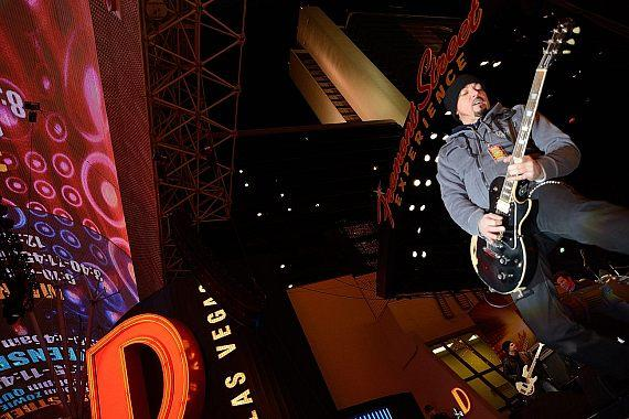 Jizzy Pearl performs on Fremont Street