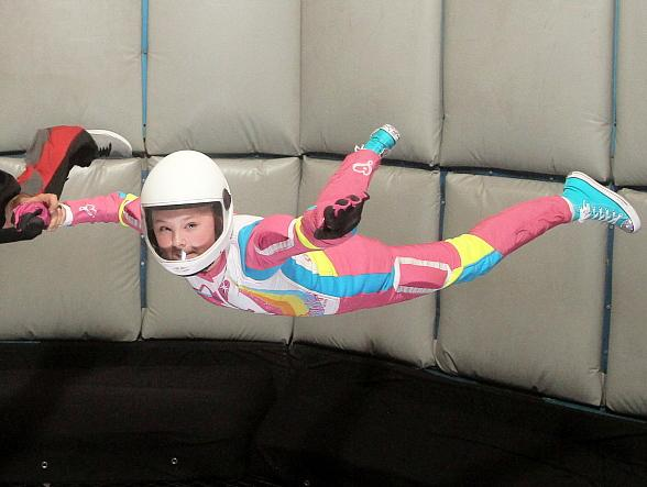Dancer, Singer, Actress and Youtube Personality Jojo Siwa Takes Flight at Vegas Indoor Skydiving