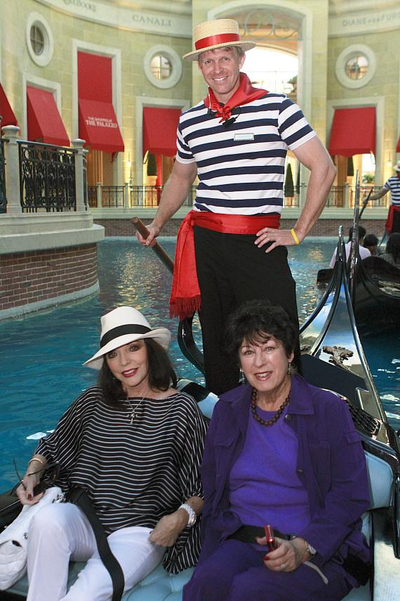 Joan Collins and friend Judy at The Venetian