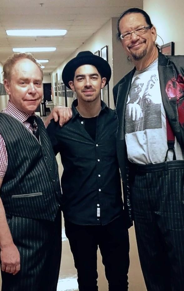 Musician Joe Jonas attends Penn & Teller show at Rio All-Suite Hotel & Casino
