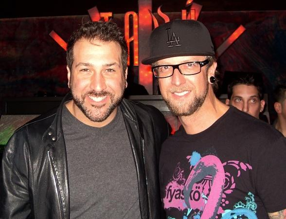 Joey Fatone and DJ Scotty Boy at Tabu Ultra Lounge Las Vegas