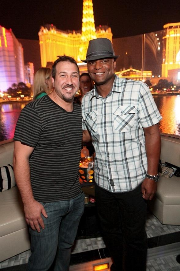 Joey Fatone and Warren Moon at Hyde Bellagio, Las Vegas