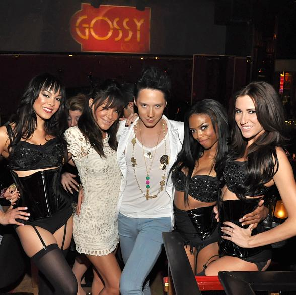 Johnny Weir, Doriana Sanchez Attend Matt Goss's Caesars Palace Show