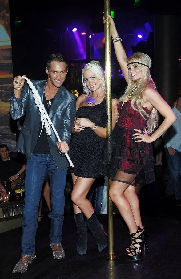 Angel Porrino, Holly Madison and Josh Strickland at Angels and Demons Party at Gallery Nightclub