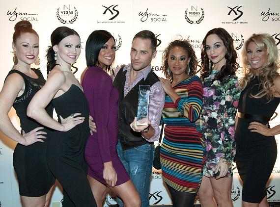 Josh Strickland and the Cast of Vegas! The Show Walking the Red Carpet and Accepting Their Award for Best Vegas Classic Show