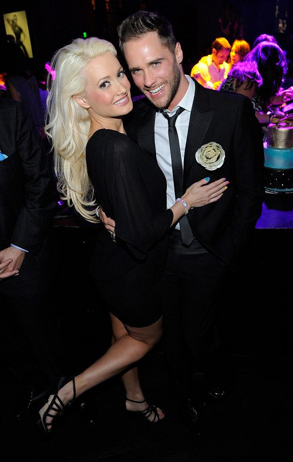 Josh Strickland celebrates his birthday alongside Holly Madison at Gallery Nightclub in Las Vegas