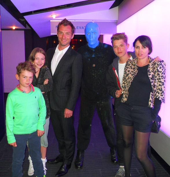 Jude Law at Blue Man Group Las Vegas