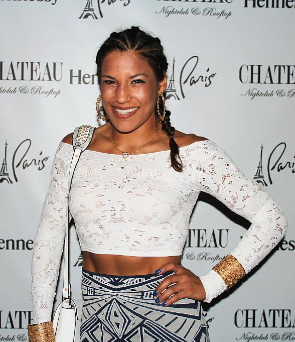 UFC Fighters, Nick Diaz and Julianna Pena, Party at Chateau Nightclub & Rooftop at Paris Las Vegas