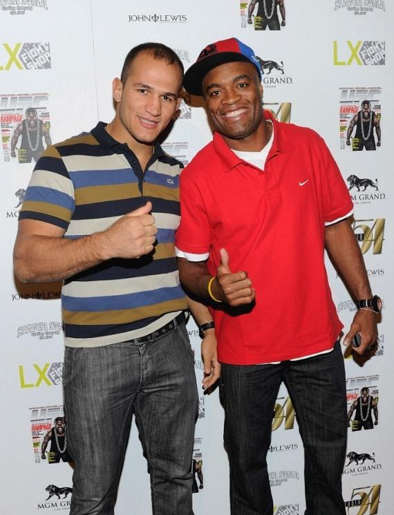 Junior Dos Santos and Anderson Silva on Red Carpet at Studio 54