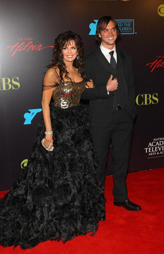 Marie Osmond and son