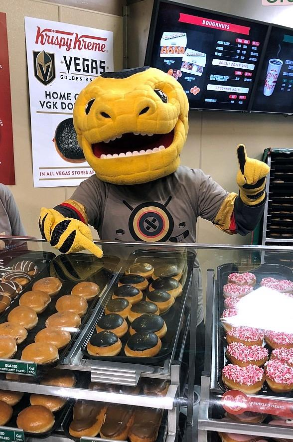 Krispy Kreme Launches Vegas Golden Knights Doughnuts in Las Vegas
