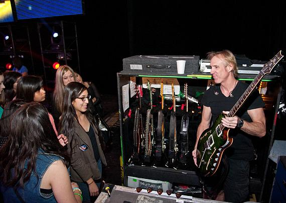 KO Knudson students see how musical instruments are handled backstage at The Joint