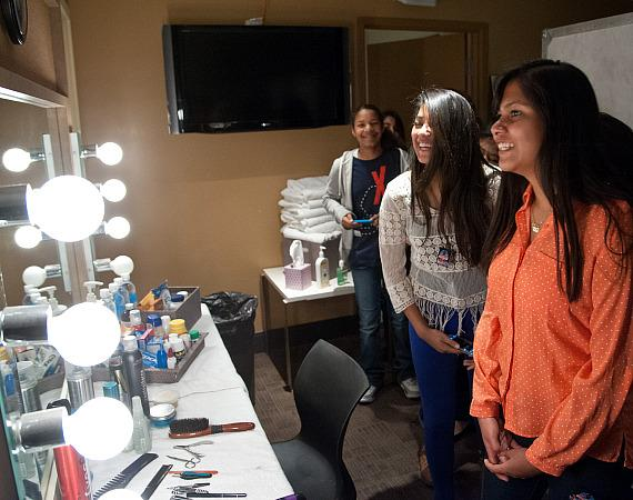KO Knudson students tour dressing rooms at The Joint