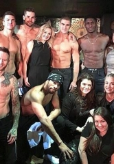 """The Big Bang Theory"" Star Kaley Cuoco Visits ""Magic Mike Live"" at the Hard Rock Hotel & Casino Las Vegas"