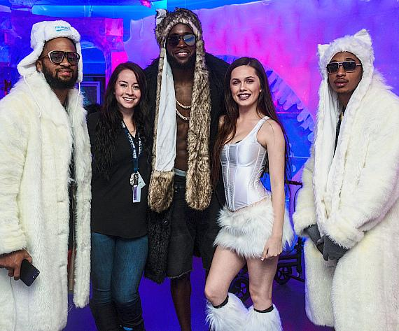 Seattle Seahawks Kam Chancellor and Earl Thomas Visit Minus5 Ice Experience in Las Vegas