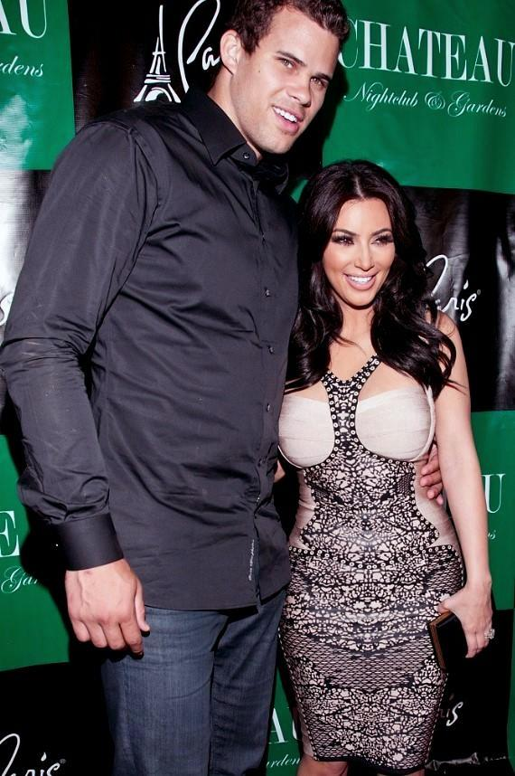 Kim Kardashian and fiancé Kris Humphries