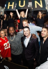 Kansas City Chiefs Running Back Kareem Hunt Parties at Hyde Bellagio in Las Vegas