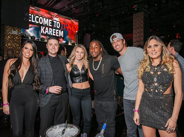 Kansas City Chiefs Star Kareem Hunt Parties at TAO Nightclub in The Venetian Las Vegas
