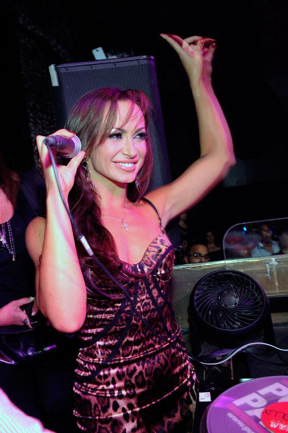 Karina Smirnoff in DJ booth at TAO