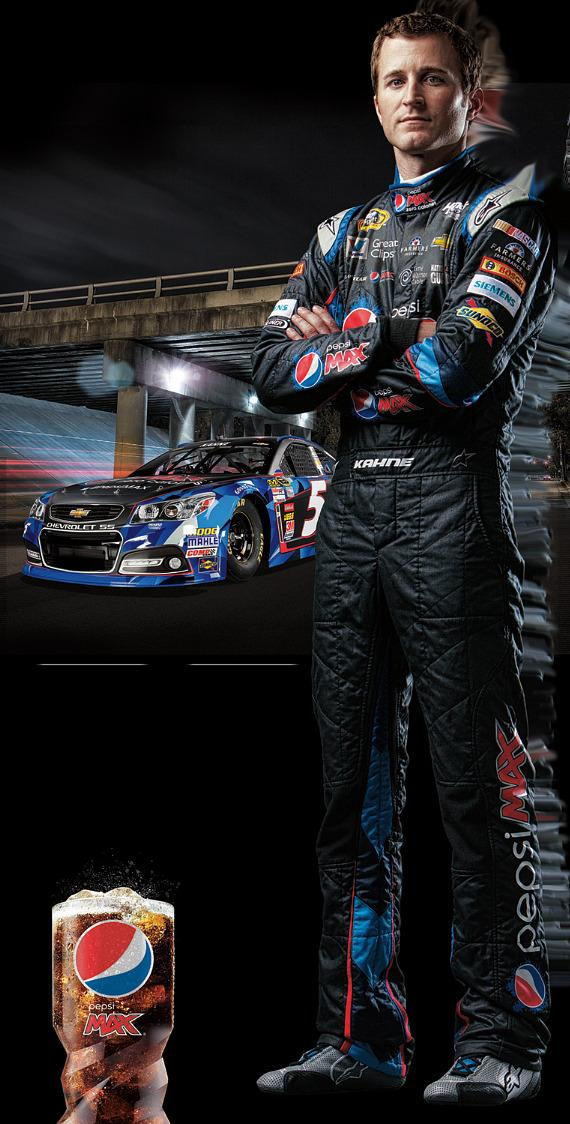 Kasey Kahne, Driver of the No. 5 Pepsi MAX Chevrolet SS for Hendrick Motorsports