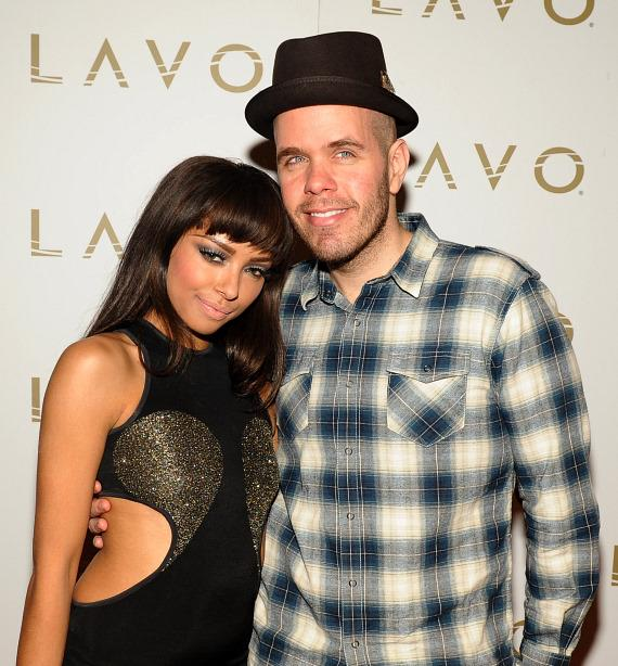 Kat Graham and Perez Hilton at LAVO red carpet