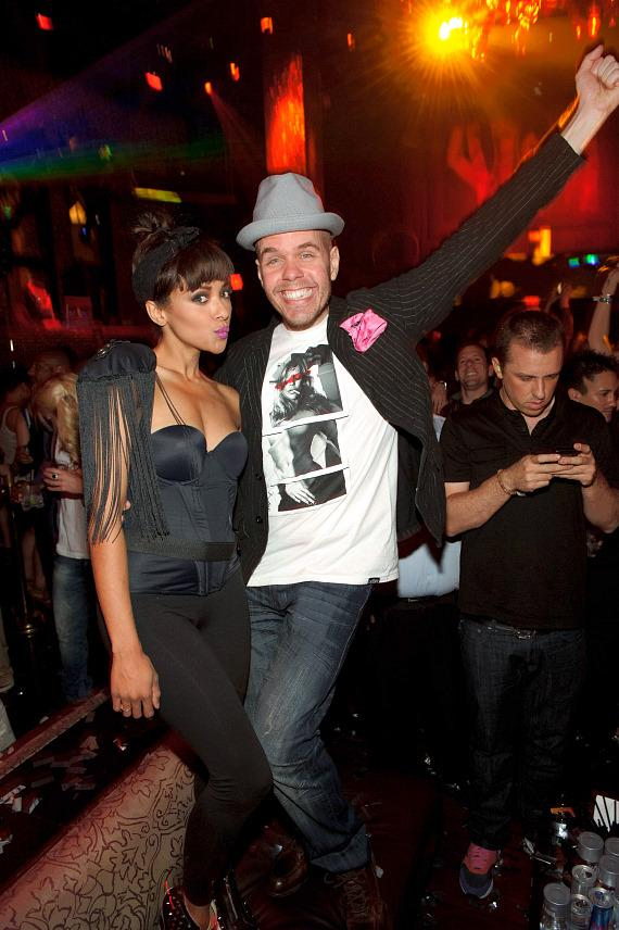 Kat Graham and Perez Hilton party at TAO Las Vegas